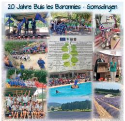 Bildercollage 20 Jahre Buis les Baronnies - Gomadingen