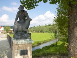 Skulptur Schafwäscher