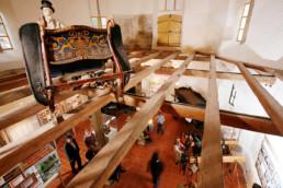 Blick von oben ins Gestütsmuseum